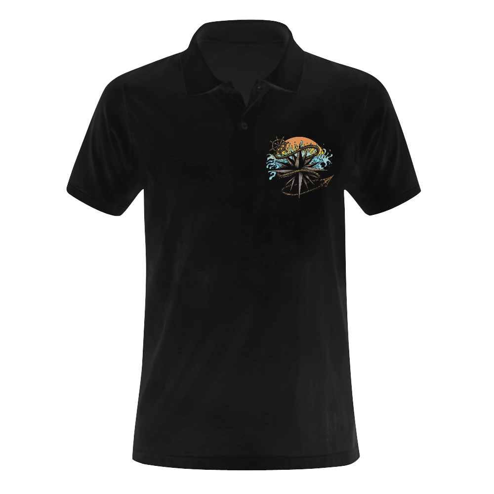Nautical Splash Men's Polo Shirt (Model T24)