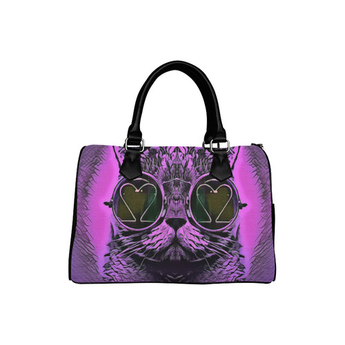 PINK CAT Boston Handbag (Model 1621)