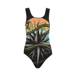 Nautical Splash Vest One Piece Swimsuit (Model S04)