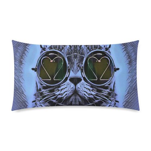 "BLUE CAT Custom Rectangle Pillow Case 20""x36"" (one side)"
