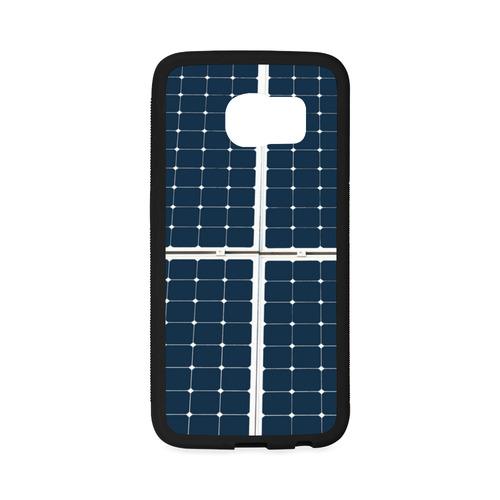 Solar Technology Power Panel Image Sun Energy Rubber Case for Samsung Galaxy S6 Edge