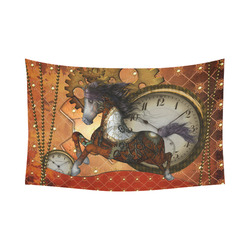 "Steampunk, awesome steampunk horse Cotton Linen Wall Tapestry 90""x 60"""