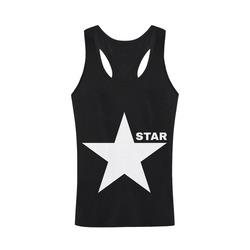 White Star Patriot America Symbol Freedom Strong Men's I-shaped Tank Top (Model T32)