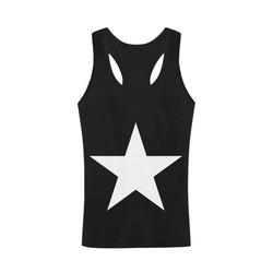 White Star Patriot America Symbol Cool Trendy Men's I-shaped Tank Top (Model T32)