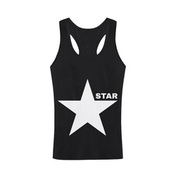 White Star Patriot America Symbol Freedom Strong Plus-size Men's I-shaped Tank Top (Model T32)