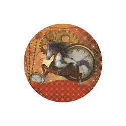 Steampunk, awesome steampunk horse Round Mousepad