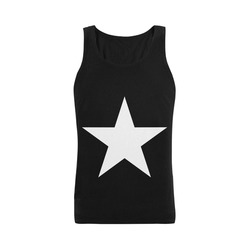 White Star Patriot America Symbol Cool Trendy Plus-size Men's Shoulder-Free Tank Top (Model T33)