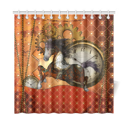 "Steampunk, awesome steampunk horse Shower Curtain 72""x72"""