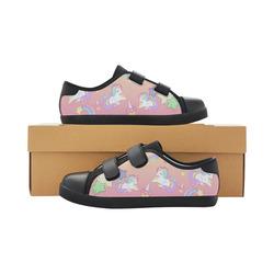 We love Unicorns Velcro Canvas Kid's Shoes (Model 008)
