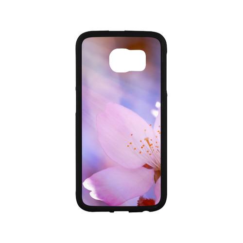 Sakura Cherry Blossom Spring Heaven Light Pink Rubber Case for Samsung Galaxy S6