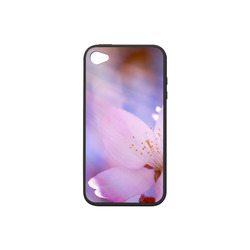 Sakura Cherry Blossom Spring Heaven Light Pink Rubber Case for iPhone 4/4s