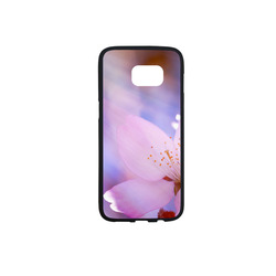 Sakura Cherry Blossom Spring Heaven Light Pink Rubber Case for Samsung Galaxy S7 edge