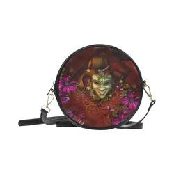 Wonderful venetian mask Round Sling Bag (Model 1647)