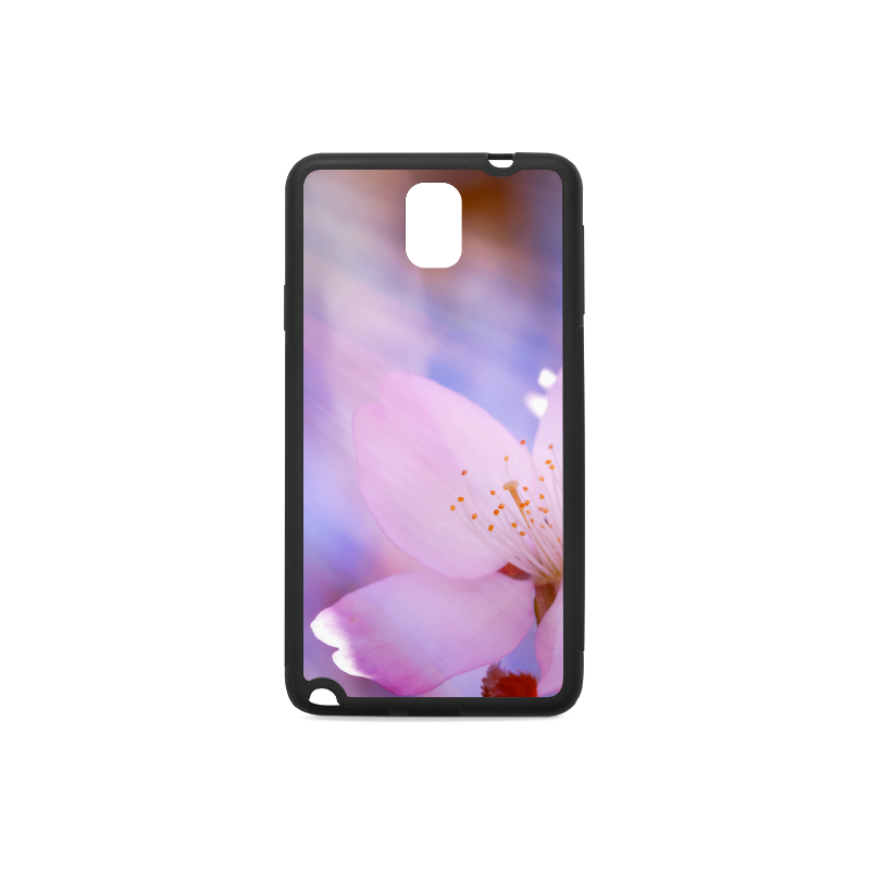 Sakura Cherry Blossom Spring Heaven Light Pink Rubber Case for Samsung Galaxy Note 3