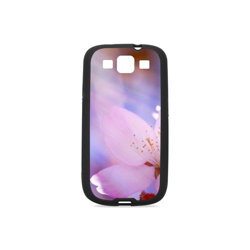 Sakura Cherry Blossom Spring Heaven Light Pink Rubber Case for Samsung Galaxy S3