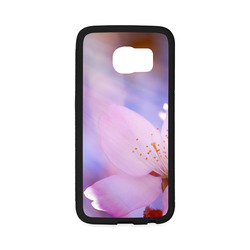 Sakura Cherry Blossom Spring Heaven Light Pink Rubber Case for Samsung Galaxy S6 Edge