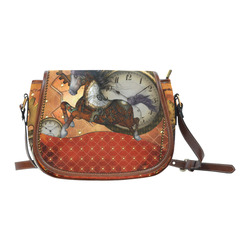 Steampunk, awesome steampunk horse Saddle Bag/Small (Model 1649) Full Customization