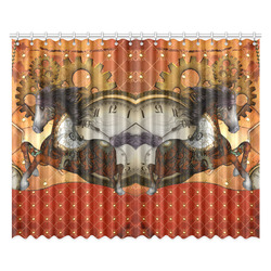 """Steampunk, awesome steampunk horse Window Curtain 52""""x84""""(Two Pieces)"""