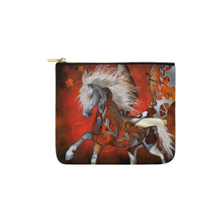 Awesome steampunk horse with wings Carry-All Pouch 6''x5''