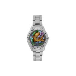 Koi Fish Men's Stainless Steel Analog Watch(Model 108)