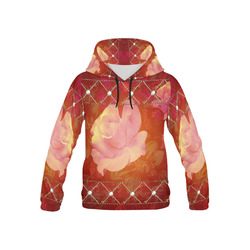 Beautiful soft roses All Over Print Hoodie for Kid (USA Size) (Model H13)