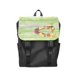 Vegan Smart Heart Love Green Wood Casual Shoulders Backpack (Model 1623)