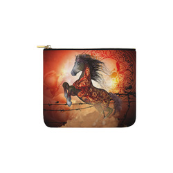 Awesome creepy horse with skulls Carry-All Pouch 6''x5''