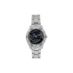 Dragon Swirl Men's Stainless Steel Analog Watch(Model 108)