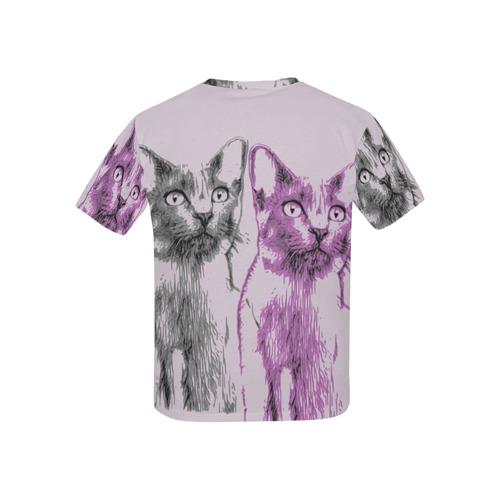 KITTEN 4 GIRLS II Kids' All Over Print T-shirt (USA Size) (Model T40)