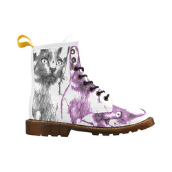CATS KITTEN High Grade PU Leather Martin Boots For Women Model 402H