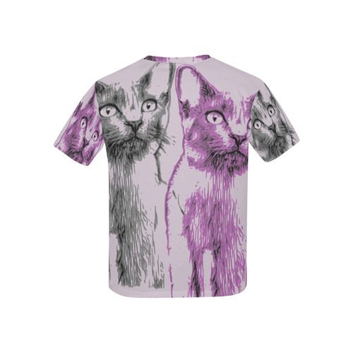 KITTEN 4 GIRLS Kids' All Over Print T-shirt (USA Size) (Model T40)