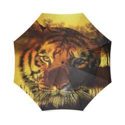 Tiger Face Foldable Umbrella (Model U01)
