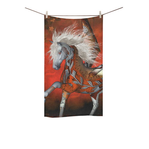 """Awesome steampunk horse with wings Custom Towel 16""""x28"""""""