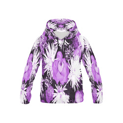 Violet Flowered Bouquet All Over Print Hoodie for Kid (USA Size) (Model H13)
