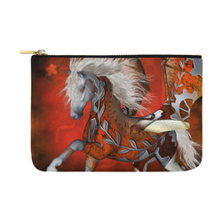 Awesome steampunk horse with wings Carry-All Pouch 12.5''x8.5''