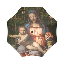 Madonna Of Roses From Bernardino Luini Foldable Umbrella (Model U01)