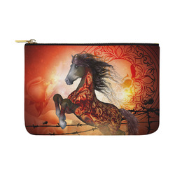 Awesome creepy horse with skulls Carry-All Pouch 12.5''x8.5''