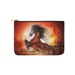 Awesome creepy horse with skulls Carry-All Pouch 9.5''x6''