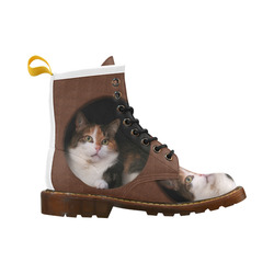 The Kitty In The Hole High Grade PU Leather Martin Boots For Women Model 402H