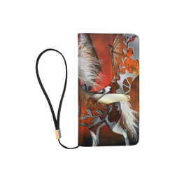 Awesome steampunk horse with wings Men's Clutch Purse (Model 1638)