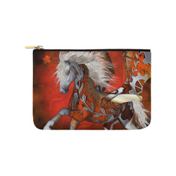 Awesome steampunk horse with wings Carry-All Pouch 9.5''x6''