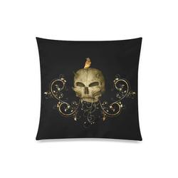 "The golden skull Custom Zippered Pillow Case 20""x20""(Twin Sides)"