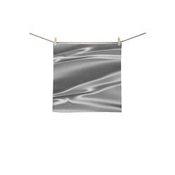 "Metallic grey satin 3D texture Square Towel 13""x13"""
