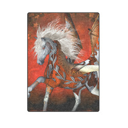 "Awesome steampunk horse with wings Blanket 58""x80"""