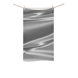 "Metallic grey satin 3D texture Custom Towel 16""x28"""