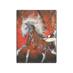 """Awesome steampunk horse with wings Blanket 50""""x60"""""""