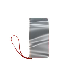 Metallic grey satin 3D texture Women's Clutch Wallet (Model 1637)