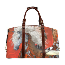 Awesome steampunk horse with wings Classic Travel Bag (Model 1643) Remake