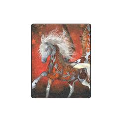 """Awesome steampunk horse with wings Blanket 40""""x50"""""""