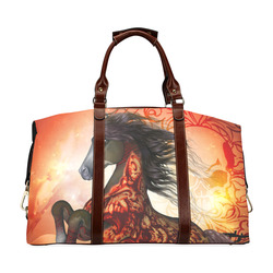 Awesome creepy horse with skulls Classic Travel Bag (Model 1643) Remake